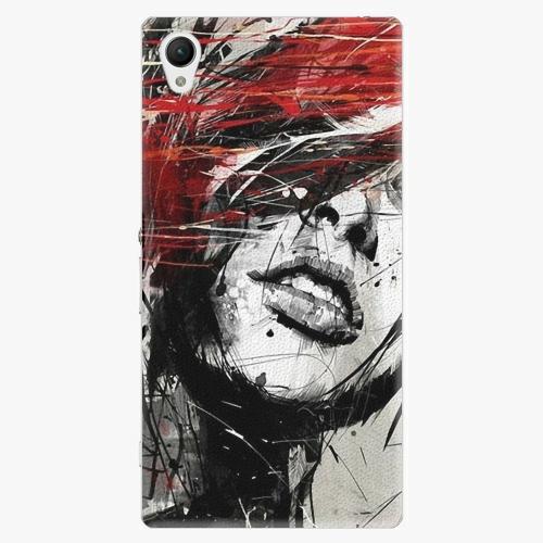 Plastový kryt iSaprio - Sketch Face - Sony Xperia Z1