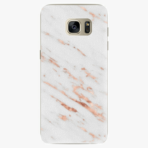 Plastový kryt iSaprio - Rose Gold Marble - Samsung Galaxy S7 Edge