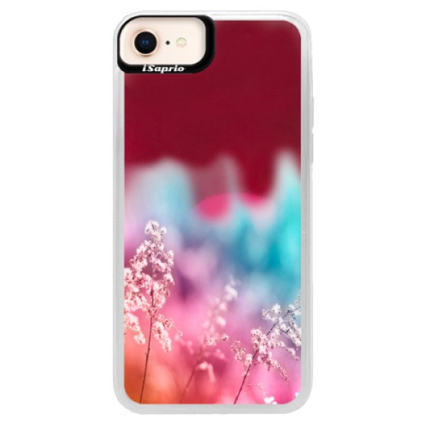 Neonové pouzdro Pink iSaprio - Rainbow Grass - iPhone 8