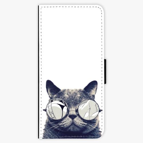 Flipové pouzdro iSaprio - Crazy Cat 01 - Samsung Galaxy S8 Plus