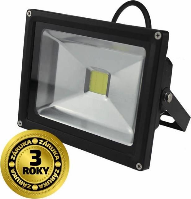 Reflektor WM-20W-E Solight LED WM-20W-E venkovní, 20W, 1600lm, AC 230V, černý