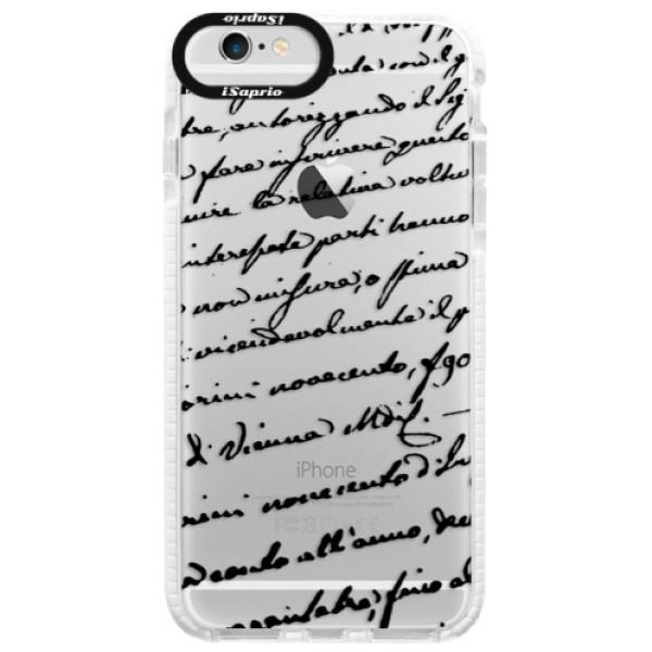Silikonové pouzdro Bumper iSaprio - Handwriting 01 - black - iPhone 6/6S