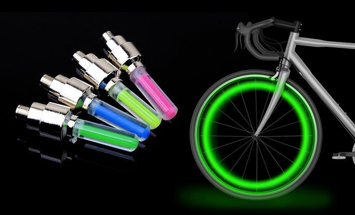 Svítící ventilky 2 ks - zelené