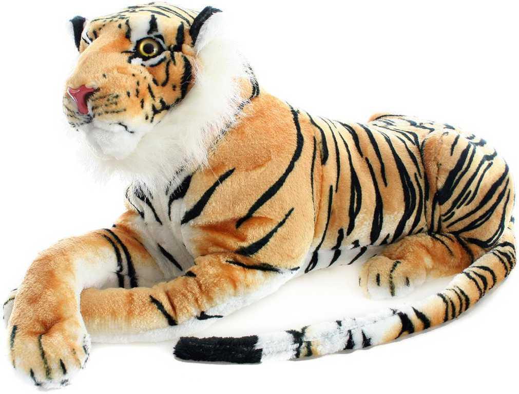 PLYŠ Tygr hnědý ležící 70cm *PLYŠOVÉ HRAČKY*