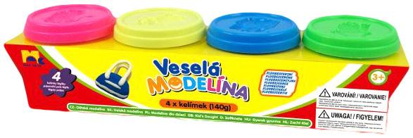 Modelína 4x140g NEON modelovací hmota set 4 barvy