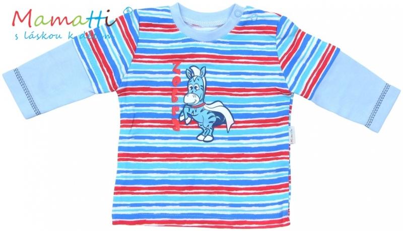 tricko-dlouhy-rukav-mamatti-zebra-sv-modre-barevne-pruzky-92-18-24m