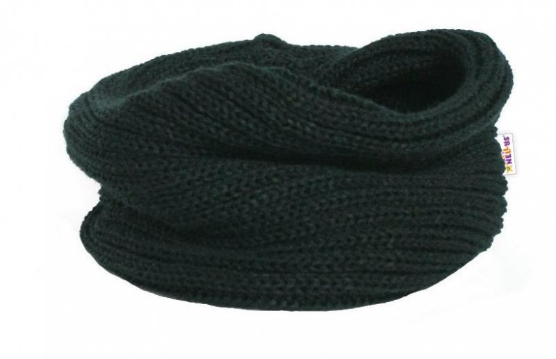 Pletený nákrčník/komínek Baby Nellys ® - černý - 3-8let