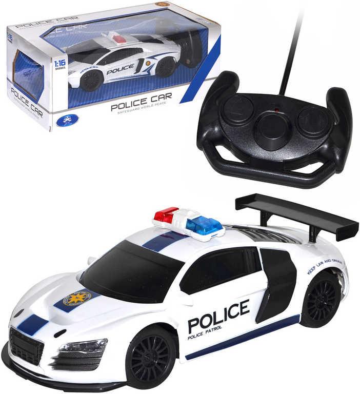 RC Auto sportovní policie 24cm na dálkové ovládání 1:16 na baterie 2 druhy Světlo