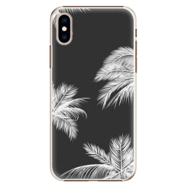 Plastové pouzdro iSaprio - White Palm - iPhone XS