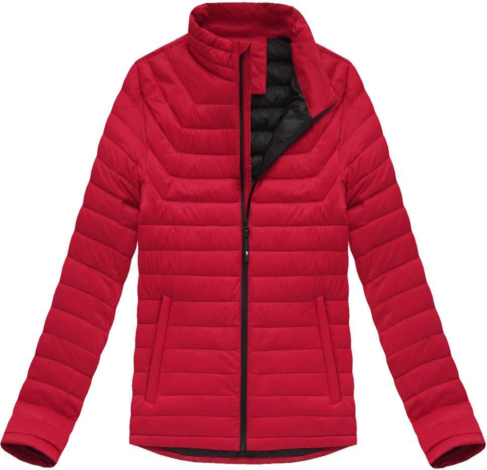 Červená pánská bunda s přírodní vycpávkou (5020) - Červená/M