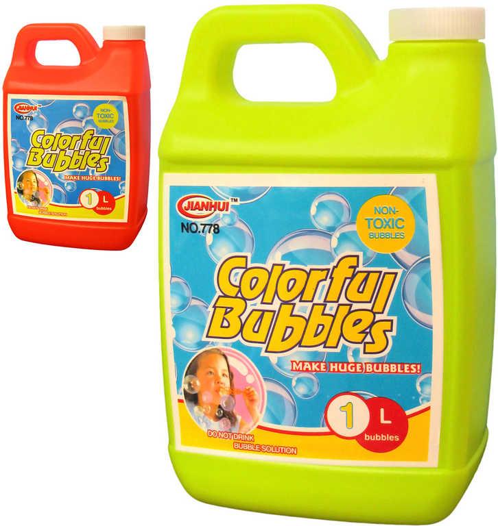 Náplň náhradní 1000 ml do bublifuku plastový kanystr 2 barvy