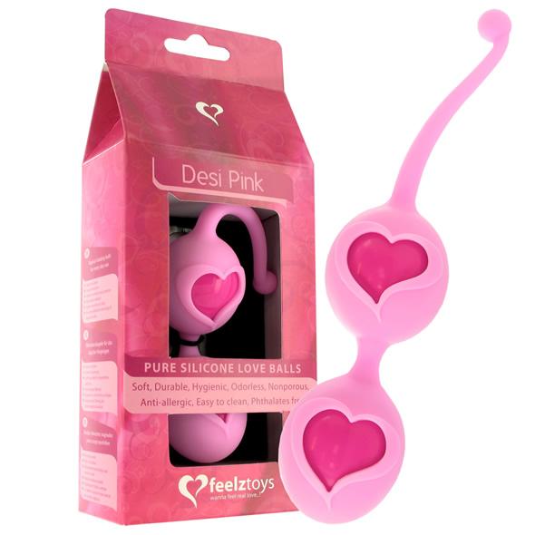 Venušiny kuličky se srdíčky - Feelz Toys - Desi Love Balls Pink