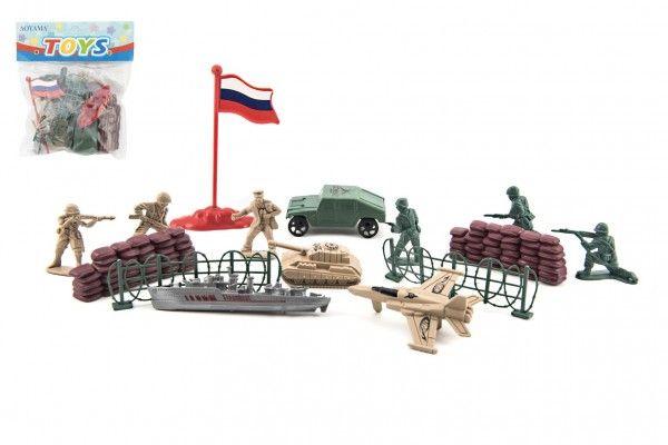 Sada vojáci plast 3-5cm s doplňky v sáčku 15x18cm