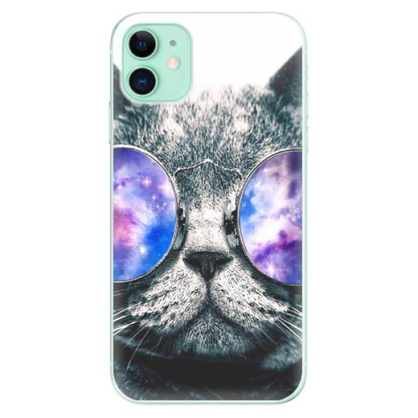 Odolné silikonové pouzdro iSaprio - Galaxy Cat - iPhone 11