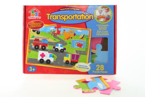 Puzzle pěnové - dopravní prostředky
