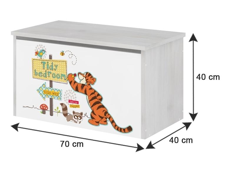 BabyBoo Box na hračky, truhla Medívek STYDLÍN růžový
