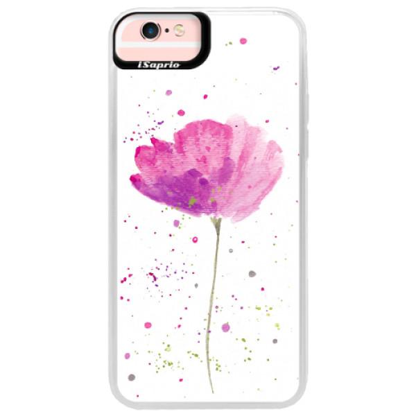 Neonové pouzdro Pink iSaprio - Poppies - iPhone 6 Plus/6S Plus