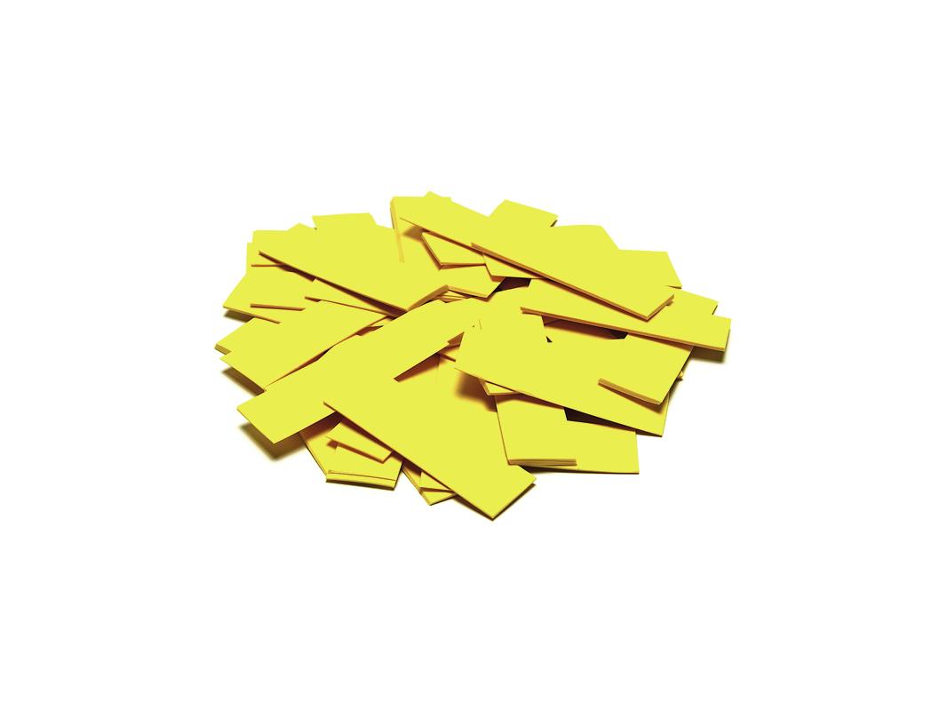 Tcm Fx pomalu padající obdélníkové konfety 55x18mm, žluté, 1kg