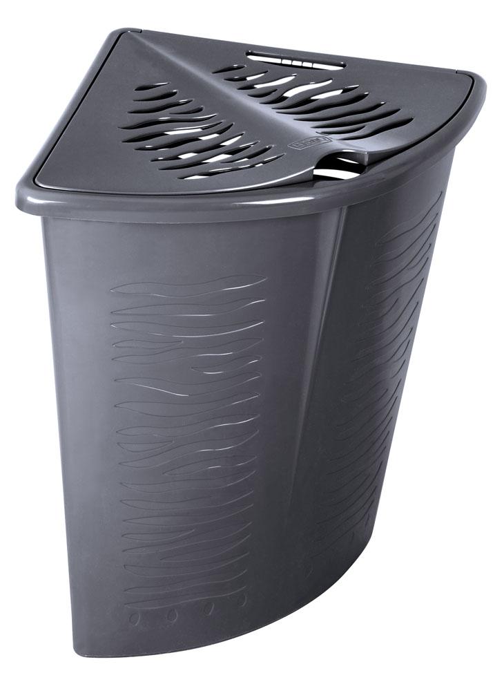 Prádelní koš Zebra - rohový 45l