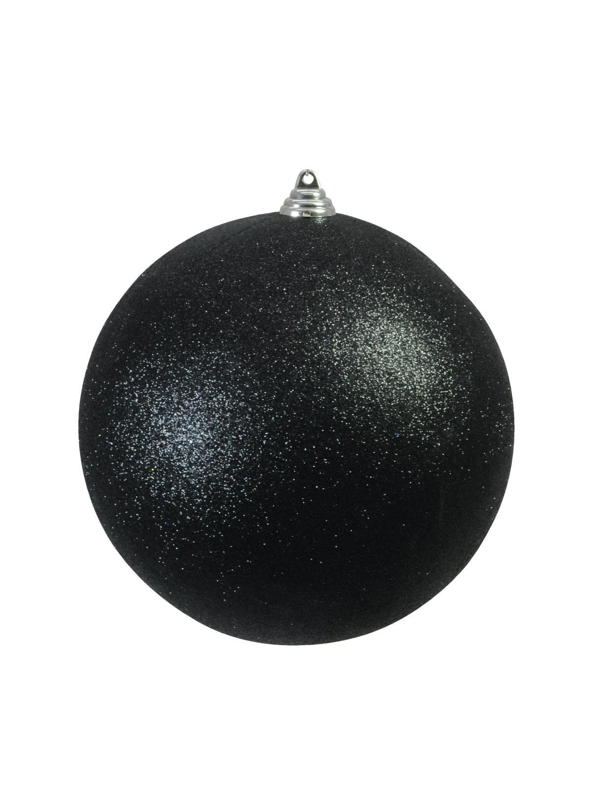 Vánoční dekorační ozdoba, 20 cm, černá se třpytkami, 1 ks