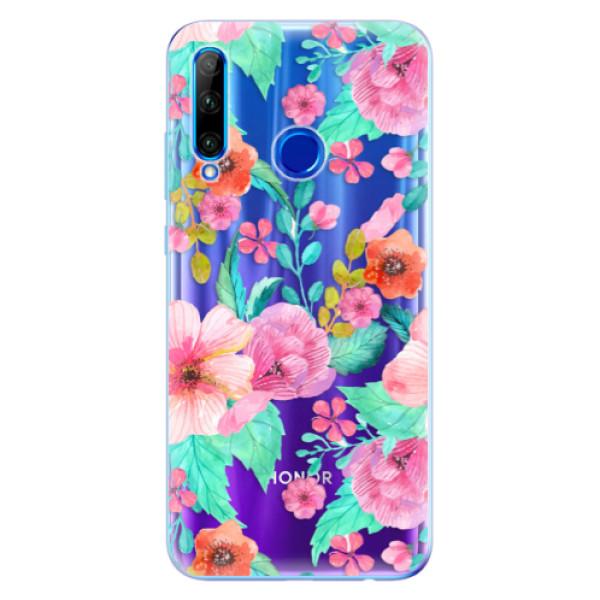 Odolné silikonové pouzdro iSaprio - Flower Pattern 01 - Huawei Honor 20 Lite
