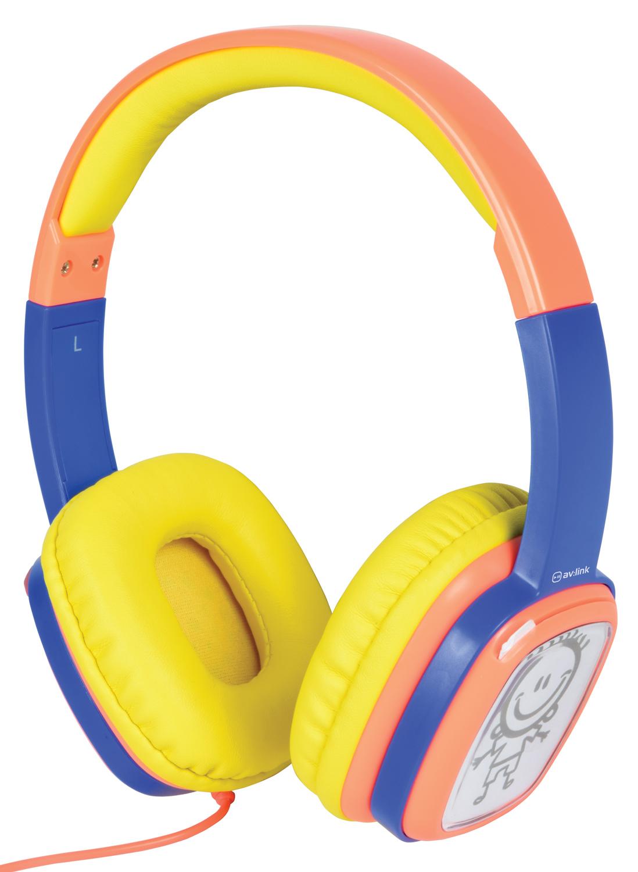 AV:link Doodle DIY, dětská sluchátka s vlastním motivem, oranžová