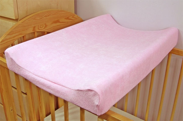 Jersey potah na přebalovací podložku, 60cm x 80cm - růžový