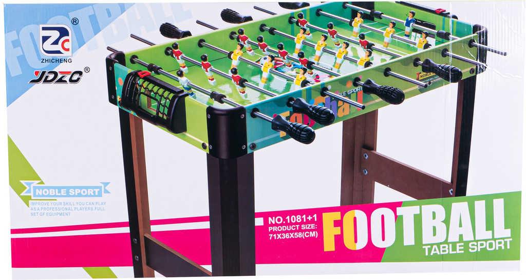 DŘEVO Hra Fotbal 71x36cm kovová táhla *SPOLEČENSKÉ HRY*