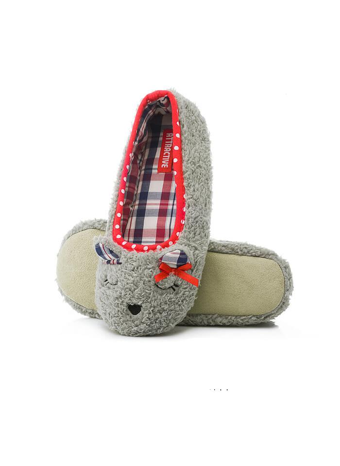 Dámské papuče Baleríny Attractive 1337 Animals - Hnědá/40-41