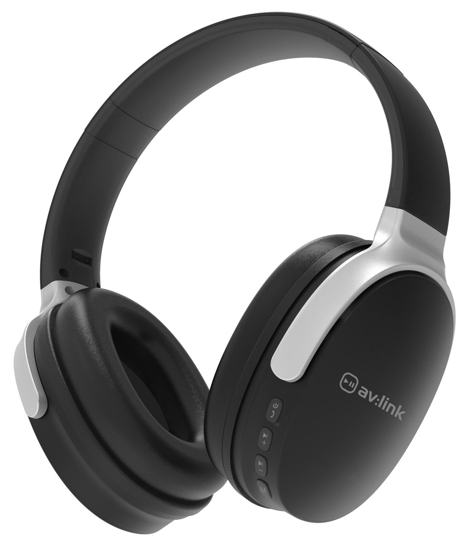 AV:link WBH-40 BLK, multimediální bezdrátová sluchátka, černá