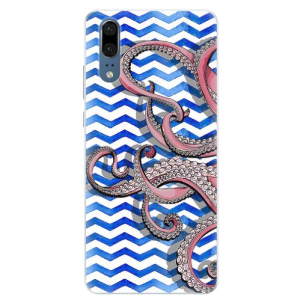 Silikonové pouzdro iSaprio - Octopus - Huawei P20