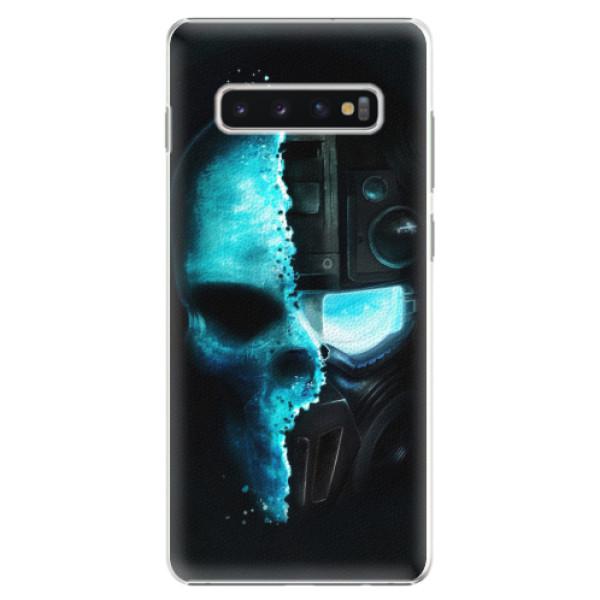 Plastové pouzdro iSaprio - Roboskull - Samsung Galaxy S10+