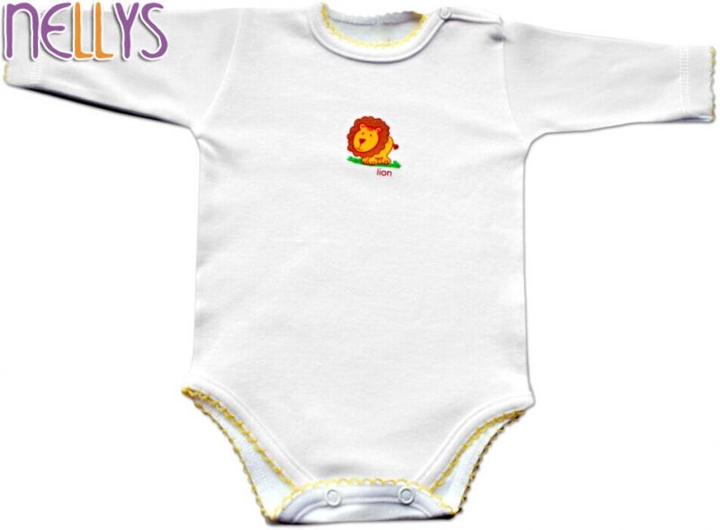 Baby Nellys Body dl. rukáv - Lvíček - 92 (18-24m)