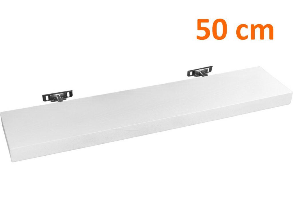 Nástěnná police STILISTA SALIENTO - bílá 50 cm