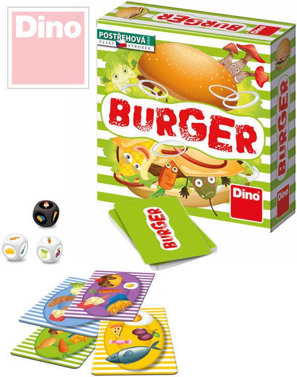 DINO Hra malá postřehová Burger v krabici karty *SPOLEČENSKÉ HRY*