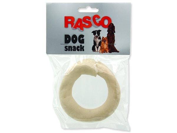 Kruh RASCO Dog buvolí bílý 8,9 cm