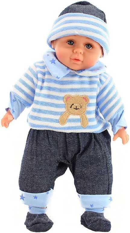 Panenka 30 cm miminko chlapeček v pyžámku měkké tělíčko v sáčku