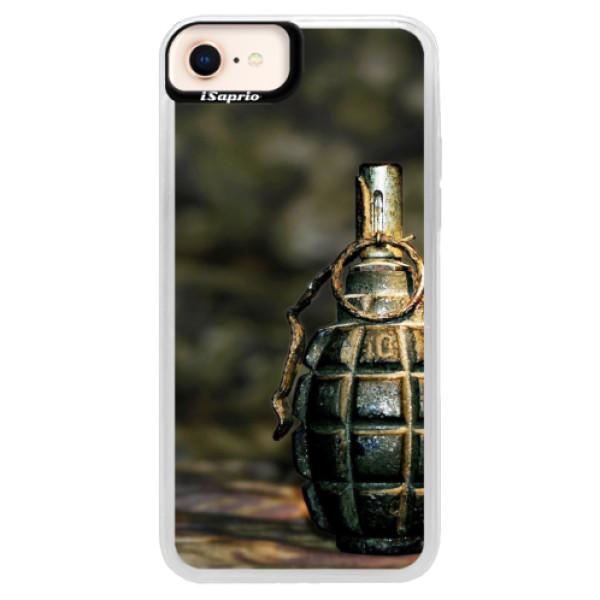 Neonové pouzdro Pink iSaprio - Grenade - iPhone 8