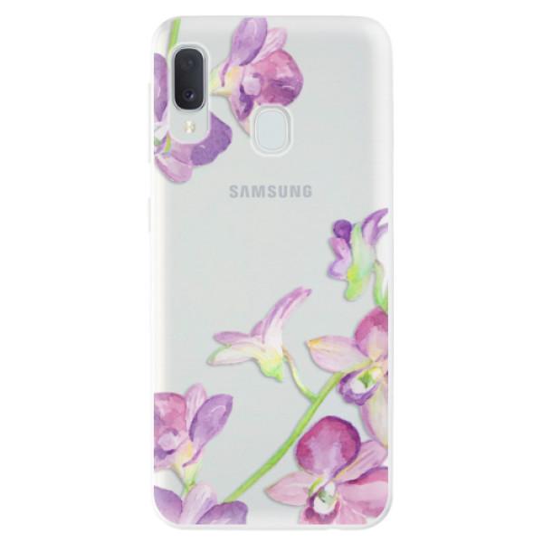 Odolné silikonové pouzdro iSaprio - Purple Orchid - Samsung Galaxy A20e