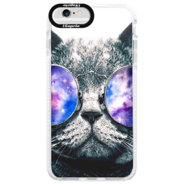 Silikonové pouzdro Bumper iSaprio - Galaxy Cat - iPhone 6/6S