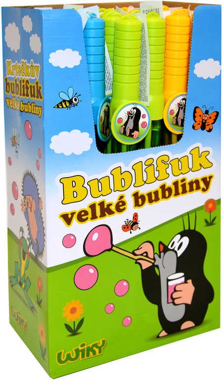 KRTEK Bublifuk tyč 120ml Krteček dětský bublifukovač velké bubliny 3 barvy