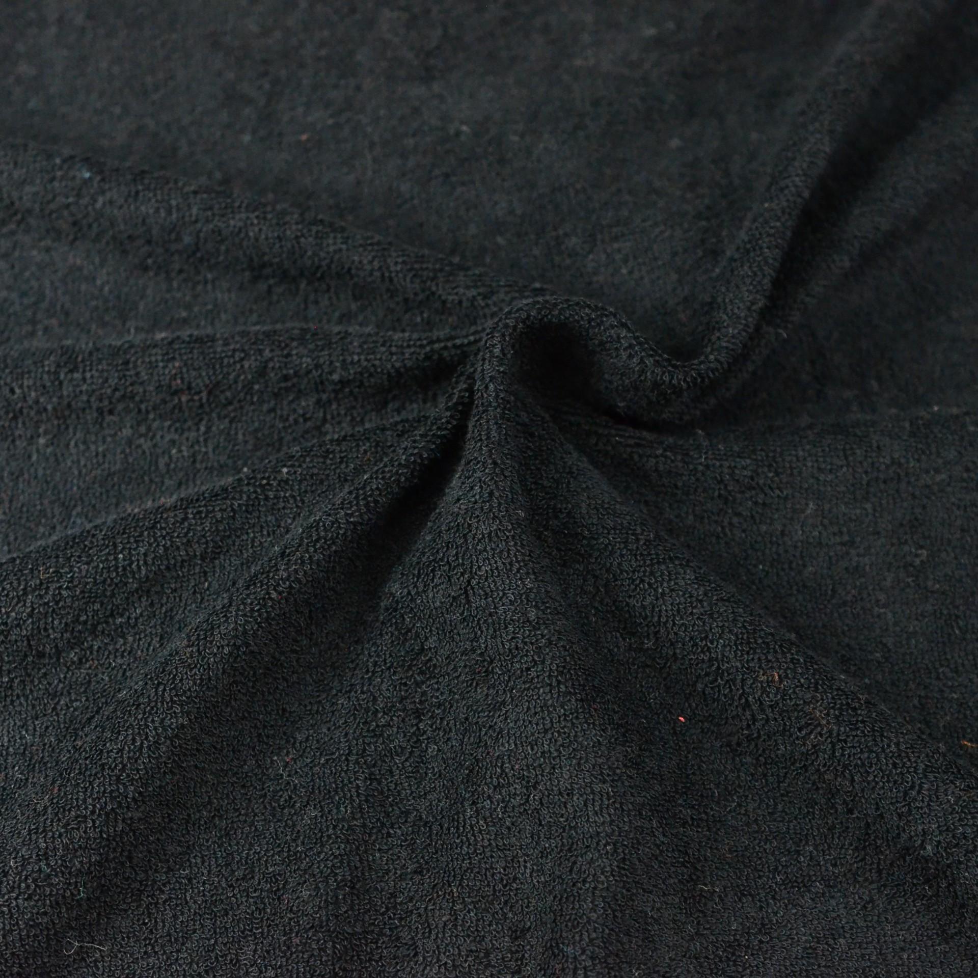 Froté prostěradlo černé, Výběr rozměru - 220x200cm