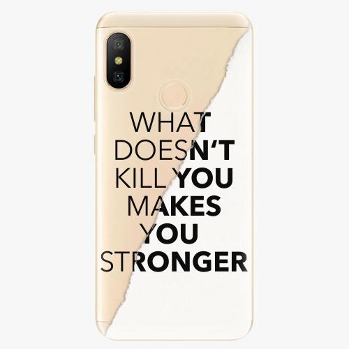 Silikonové pouzdro iSaprio - Makes You Stronger - Xiaomi Mi A2 Lite