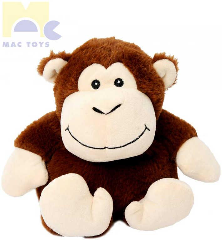 MAC TOYS PLYŠ Opička nahřívací 33cm zvířátko voňavé *PLYŠOVÉ HRAČKY*
