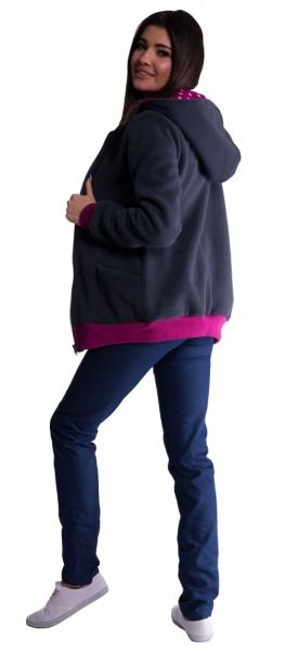Be MaaMaa Mikina s kapucí nejen pro těhotné - černá