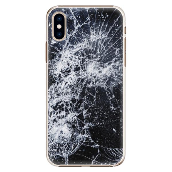 Plastové pouzdro iSaprio - Cracked - iPhone XS