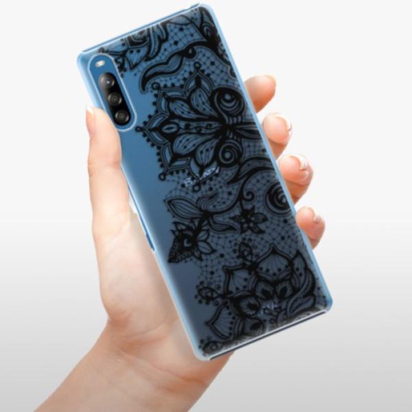 Plastové pouzdro iSaprio - Black Lace - Sony Xperia L4