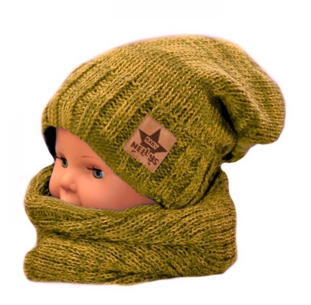 baby-nellys-podzimni-zimni-cepice-s-kominkem-horcicovy-melir