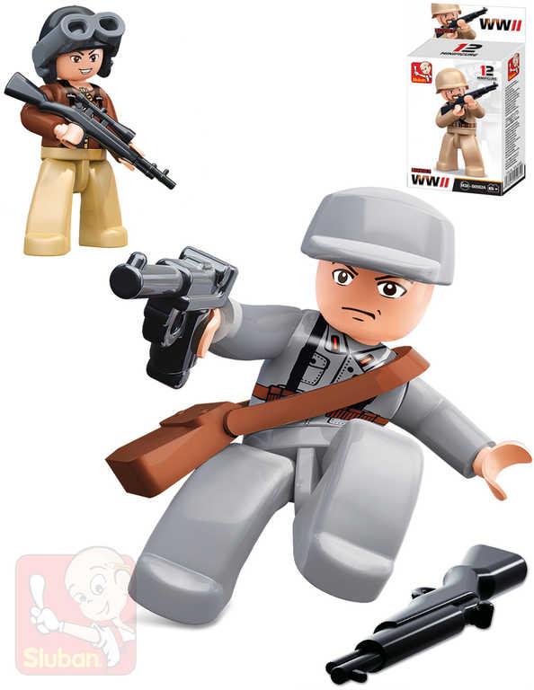 SLUBAN Mini figurka voják doplněk ke stavebnici ARMY WW2 různé druhy