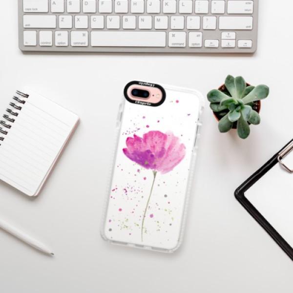 Silikonové pouzdro Bumper iSaprio - Poppies - iPhone 7 Plus